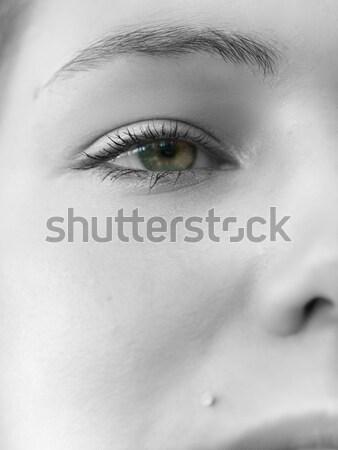 Mooie kijken portret kaukasisch meisje oog Stockfoto © ldambies