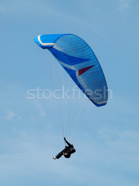 Homem blue sky azul saltar Foto stock © ldambies