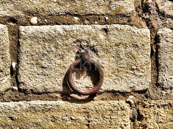 Ferro anel parede detalhes velho abstrato Foto stock © ldambies