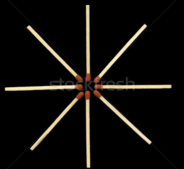 Foto stock: Partidos · estrellas · azul · forma · negro · madera