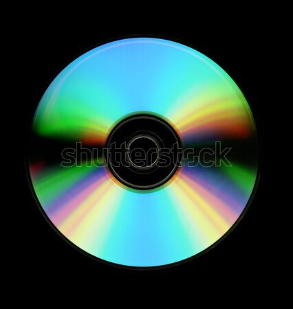 Cd yalıtılmış siyah müzik soyut Stok fotoğraf © ldambies