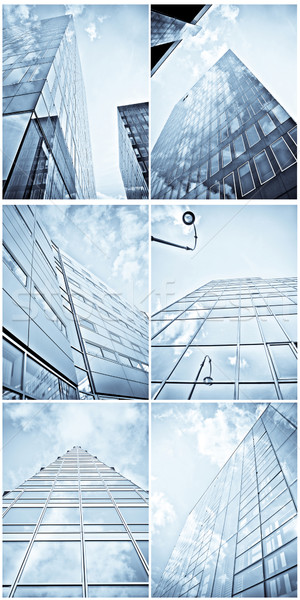 Photo stock: Architectural · photos · collage · ensemble · bleu · modernes