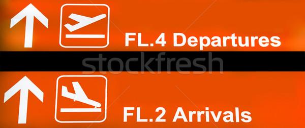 Airport sign Stock photo © ldambies
