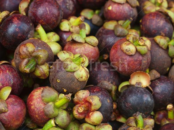 Мангостин рынке Малайзия фрукты тропические Сток-фото © ldambies