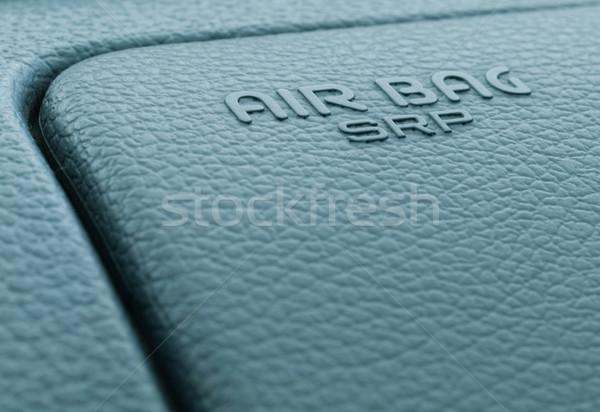 エアバッグ ラベル マクロ にログイン ダッシュボード セキュリティ ストックフォト © ldambies