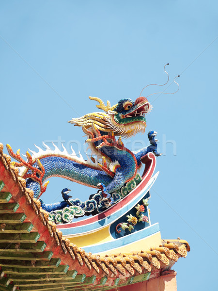 Stok fotoğraf: Çin · budist · tapınak · çatı · detay · renkli