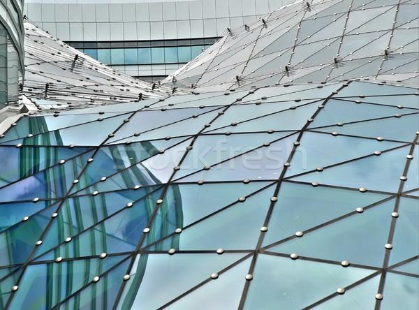 Edifício de vidro telhado vidro Varsóvia negócio Foto stock © ldambies