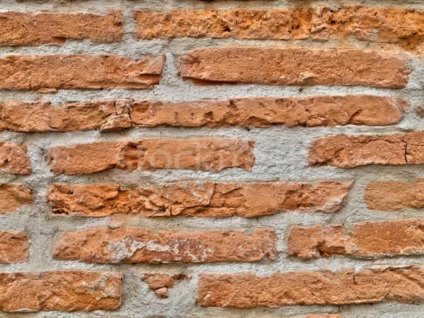 Parede de tijolos vermelho cidade edifício parede abstrato Foto stock © ldambies