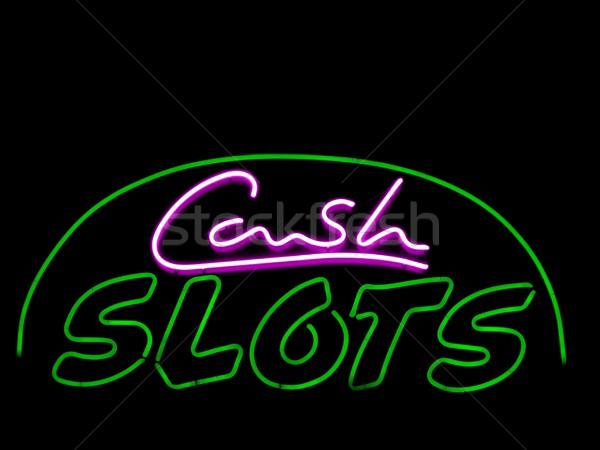Nakit neon siyah para başarı pembe Stok fotoğraf © ldambies