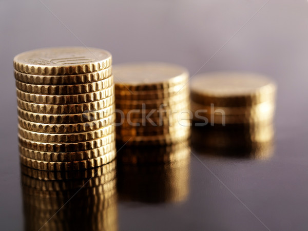 Coin piles Stock photo © ldambies