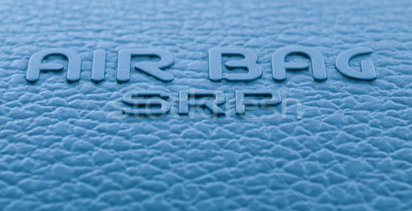 Hava yastığı etiket makro imzalamak gösterge paneli güvenlik Stok fotoğraf © ldambies