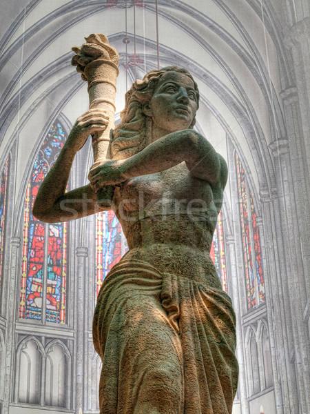Repère résistance église Pays-Bas hdr femme Photo stock © ldambies