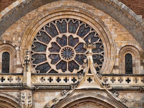 Templom elöl kilátás katedrális épület üveg Stock fotó © ldambies