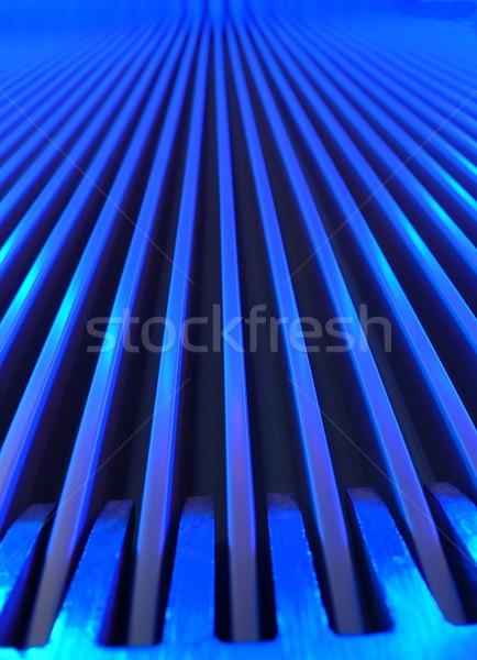 Mavi yürüyen merdiven makro görmek aydınlatma Stok fotoğraf © ldambies