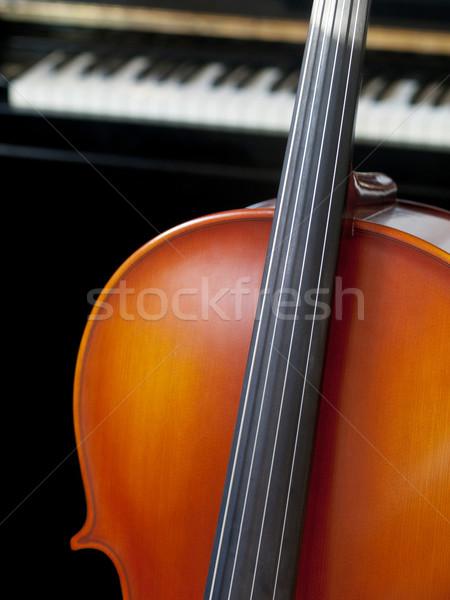 Violoncelo piano em pé música teclado Foto stock © ldambies