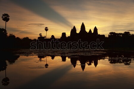 Angkor Wat at  sunrise Stock photo © ldambies