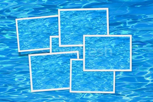 Acqua blu foto fotogrammi piscina frame Foto d'archivio © ldambies