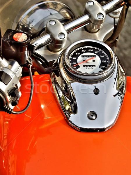 orange motorbike dashboard Stock photo © ldambies