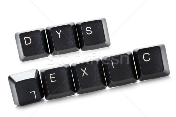 dyslexic computer keys isolated Stock photo © leeavison