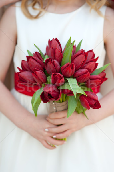 red tulip wedding bouquet Stock photo © leeavison