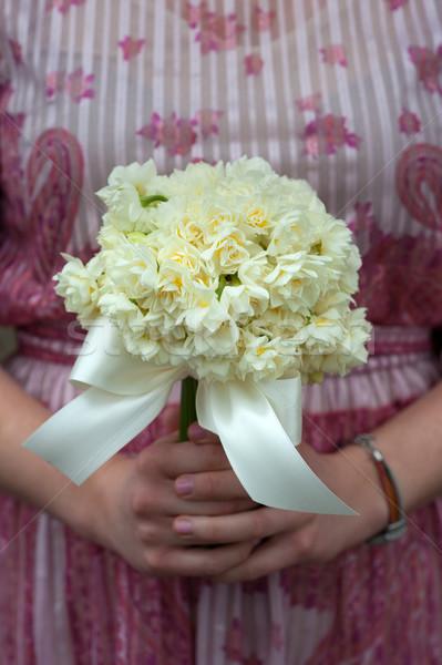 Abrótea buquê de casamento dama de honra vintage vestir flores Foto stock © leeavison