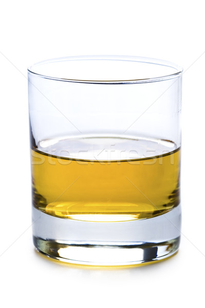 a glass of whisky or whiskey isolated Stock photo © leeavison