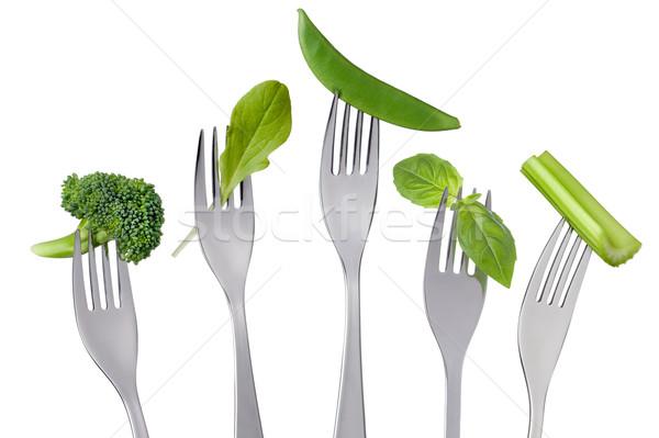 Stok fotoğraf: Sağlıklı · yeşil · gıda · beyaz · sebze