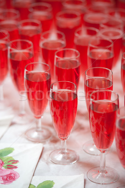 pink champagne in flutes Stock photo © leeavison