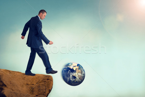 unsustainable business concept global environmental destruction  Stock photo © leeavison