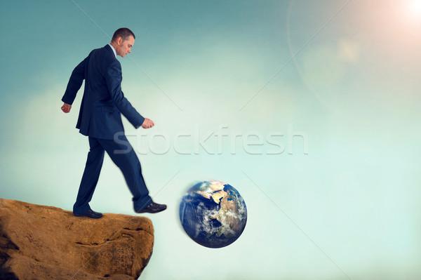 Business globale milieu vernietiging vintage Stockfoto © leeavison