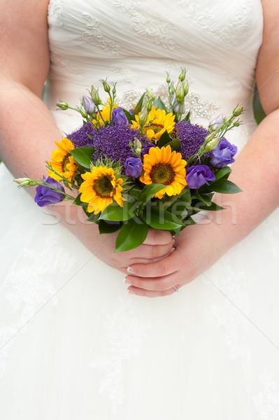 Gelin ayçiçeği buket ayçiçeği Stok fotoğraf © leeavison