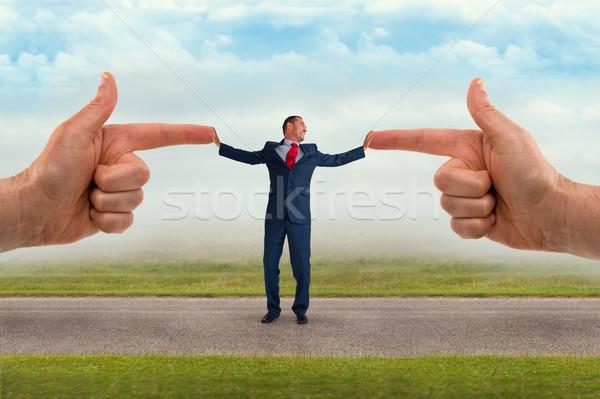 бизнесмен обвинение бизнеса человека костюм подчеркнуть Сток-фото © leeavison