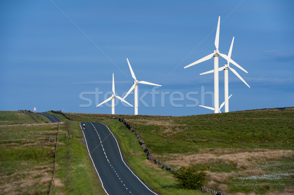 coal clough wind farm burnley, lancashire, england, uk Stock photo © leeavison