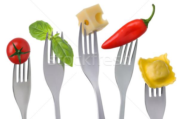 Egészséges étel fehér egészséges vegetáriánus étel csoportok fehérje Stock fotó © leeavison
