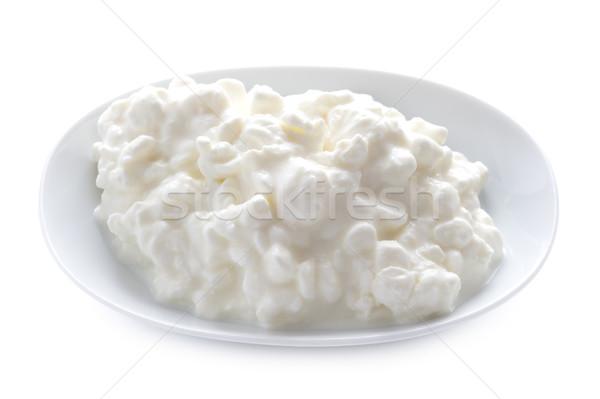 Süzme peynir yemek yalıtılmış doğal beyaz arka plan Stok fotoğraf © leeavison