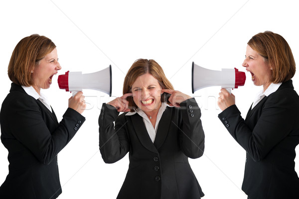 businesswoman  megaphone Stock photo © leeavison