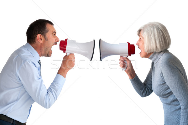 man and senior woman arguing Stock photo © leeavison