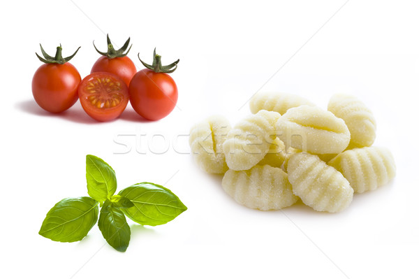 conchiglioni pasta shells, cherry tomatoes and gnocchi  Stock photo © leeavison