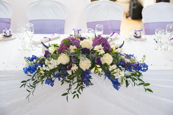 wedding table flowers Stock photo © leeavison
