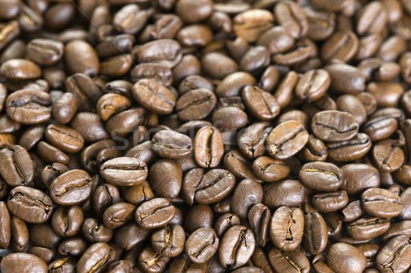 Chicchi di caffè full frame caffè spazio bianco Foto d'archivio © leeavison