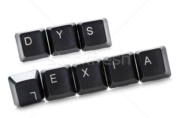 Stock photo: computer dyslexia