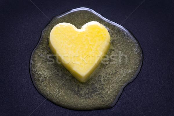 Manteiga coração saúde gordura Foto stock © leeavison