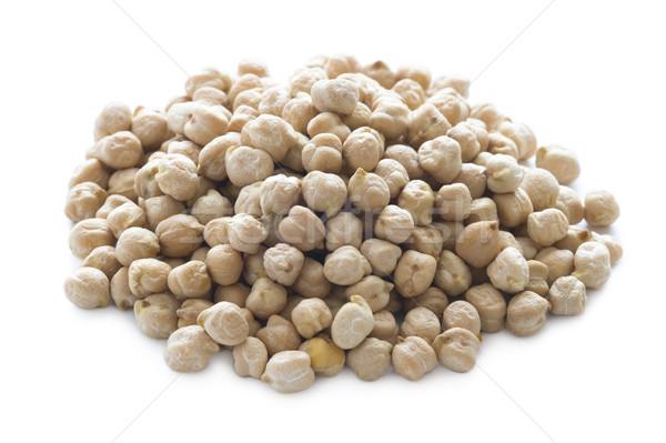 dry chickpeas on white Stock photo © leeavison