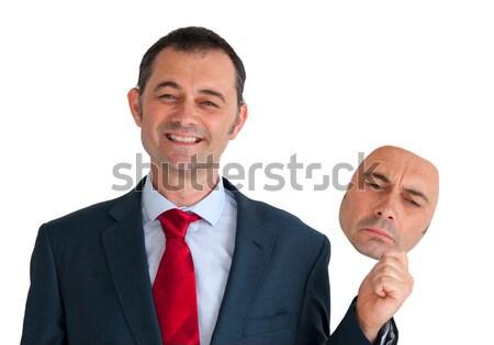 businessman concealing depression Stock photo © leeavison