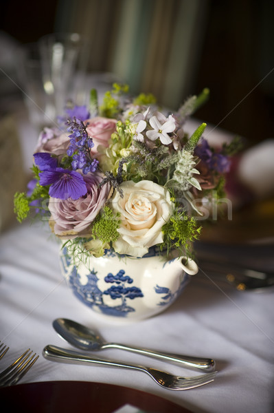 flower bouquet in a teapot Stock photo © leeavison