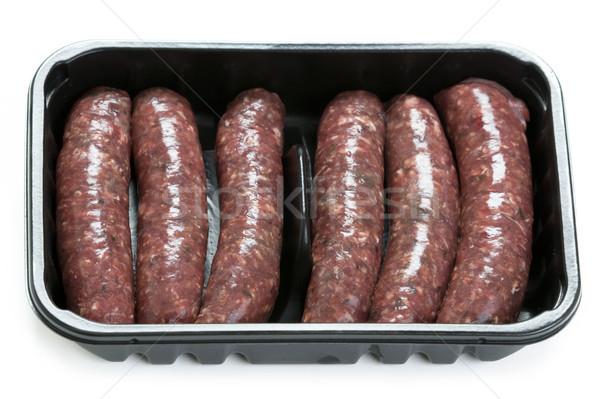 venison sausages Stock photo © leeavison