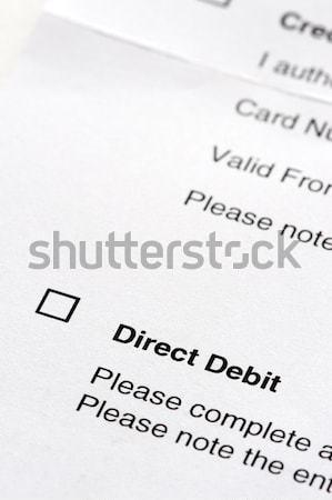Dirigir débito acuerdo forma cuadro Foto stock © leeavison