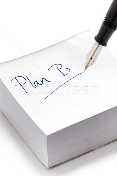 Plan b yazılı mürekkep bunun sonrası notlar Stok fotoğraf © leeavison