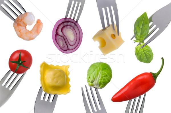 Aliments sains blanche variété isolé fruits vert Photo stock © leeavison