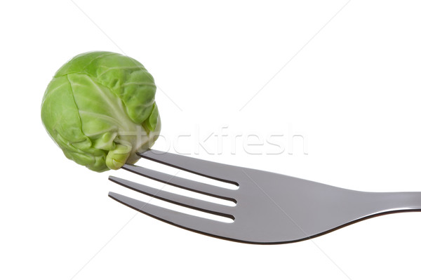 brussel sprout on a fork Stock photo © leeavison